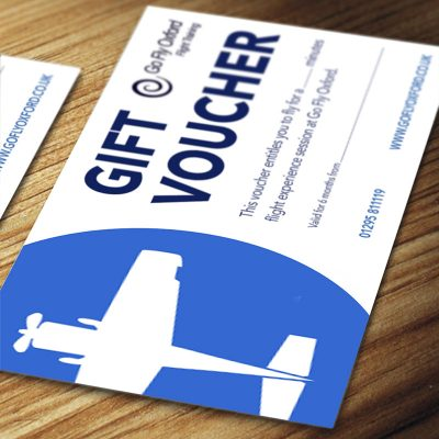 Flying experience gift voucher