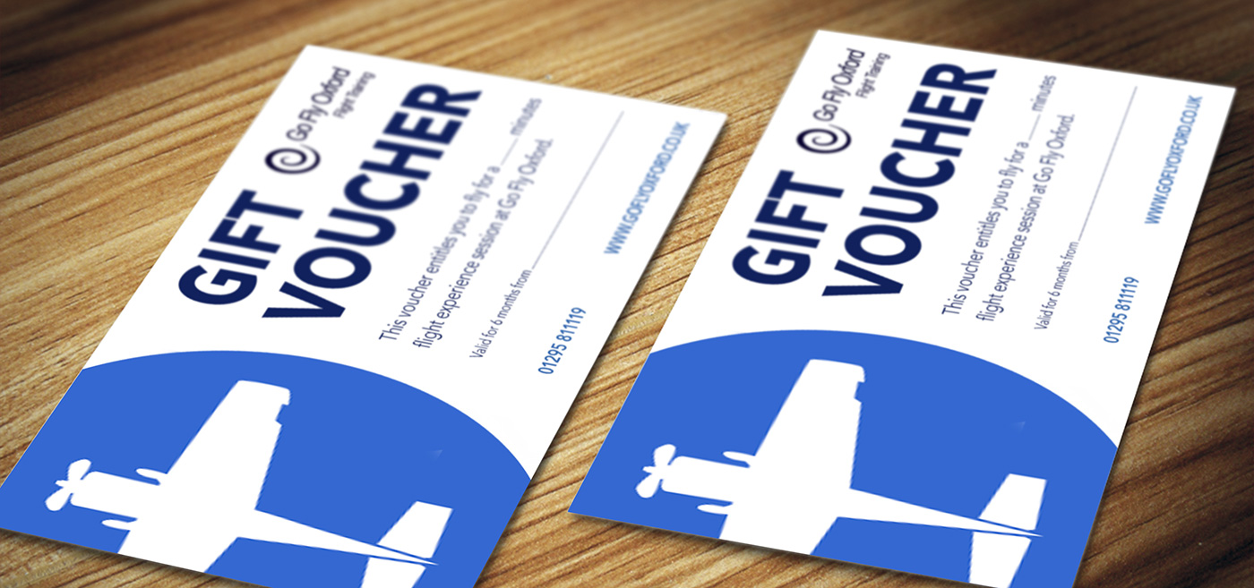 Flying experience gift vouchers